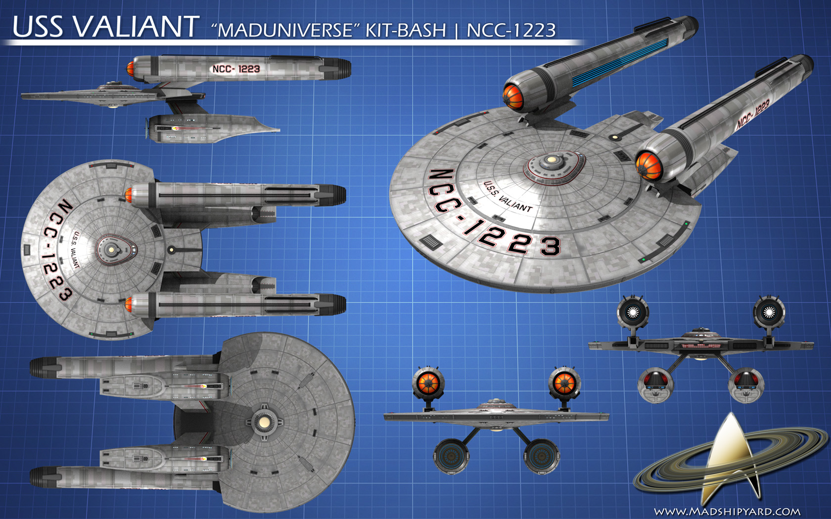 NCC 1223 USS Valiant Star Trek Ships Pinterest